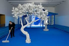 daniel arsham's '<b>hourglass</b>' exhibit immerses visitors in a bright blue ...