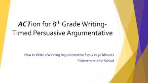 how to write a winning argumentative essay in minutes palmetto 1 how to write a winning argumentative essay in 30 minutes palmetto middle school action for 8 th grade writing timed persuasive argumentative