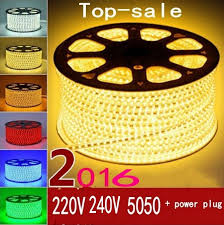 220V 240V <b>SMD 5050 led strip</b> flexible light 5m 10m 15m 20m 100m ...
