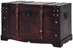 Festnight <b>Vintage Treasure Chest</b> Wood 66x38x40 cm: Amazon.co ...