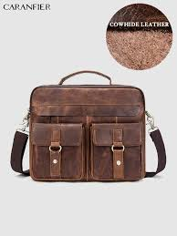 <b>CARANFIER</b> Mens Briefcases Business Documents Bags <b>Genuine</b> ...