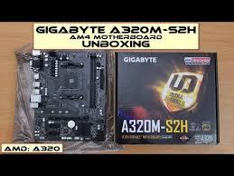 <b>Gigabyte</b> GA-A320M-S2H <b>Motherboard</b>: Unboxing - YouTube