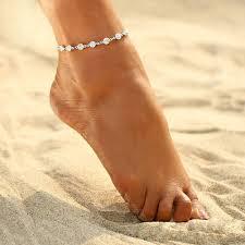 maipuxuan Simple Crystal Rhinestone Single Row Anklet <b>European</b> ...