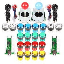 <b>2 Player Arcade Stick</b> DIY Kit USB Encoder to PC Joystick Games + ...