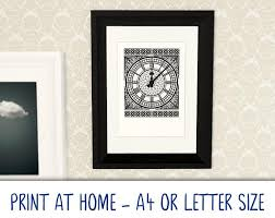 Printable A4/Letter <b>art</b> poster <b>Big Ben</b> Clock Face print at   Etsy