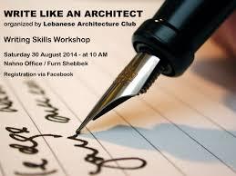 write like an architect writing skills workshop lebtivity