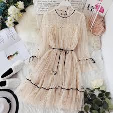 HISUMA <b>spring</b> summer <b>new</b> women Star sequins gauze flare ...