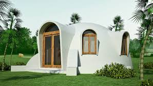 hurricane resistant   Earthbag House PlansDisaster resistant hemispheric dome made   double ferrocement shells   insulating fill  click to