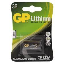 Литиевая <b>батарейка GP CR123A</b>/DL123A купить недорого в ...