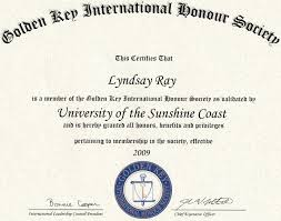 professional memberships lyndsay ray golden key international honour society membership certificate