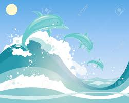 Image result for image of jumping aqua waves