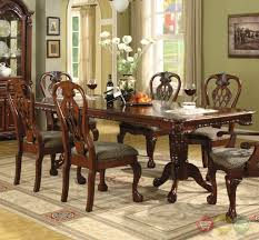 Traditional Dining Room Tables Brussels Formal Dining Room 7 Piece Furniture Set Traditional Dark
