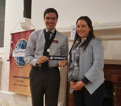 london victorians toastmasters club conquer your fear of public next was sophia who performed speech number 8 she used facts and visual aids to great effect in her empowering speech about embracing what makes you