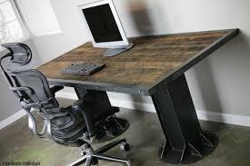 vintage style office furniture modern industrial i beam desk vintage modern style mid century modern rustic awesome custom reclaimed wood office desk