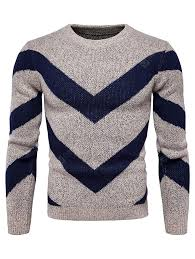 Men's <b>Autumn Winter</b> Color Matching Fashion Round Neck Sweater ...