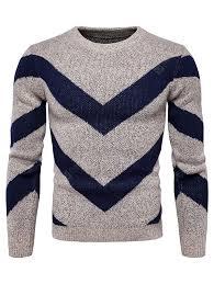 Men's Autumn Winter <b>Color Matching Fashion</b> Round Neck Sweater ...