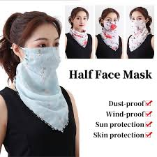 Fashion Summer <b>Outdoor Sunscreen Mask</b> Scarf Neck Scarf Large ...
