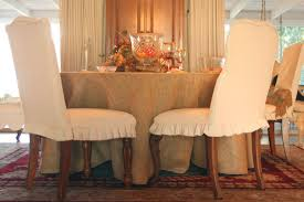 Dining Room Chair Seat Slipcovers Dining Sure Fit Full Length Box Pleats Dining Room Chair Skirt