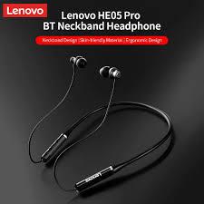 <b>Lenovo HE05 Pro</b> Neckband In-ear Earphone <b>Wireless</b> Bluetooth ...