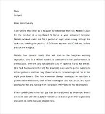 sample nurse reference letter  documents in pdf  doc registered nurse reference letter