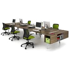 need storage space on that desk just buy a rail put it on the side of the desk and hook on one of their floating cabinets to it done bivi modular office furniture