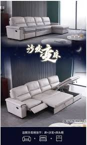 Living Room <b>Sofa</b> bed real genuine leather sofas salon couch <b>puff</b> ...