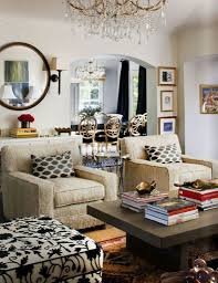charming living room decorating ideas with black wooden mirror and comfortable beige colored armchairs charming eclectic living room ideas