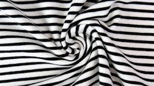 <b>Black and White Irregular</b> Spaced Stripes, by the 1/2 m, Jersey Knit ...
