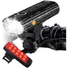 Rortquee USB Rechargeable <b>Bike Light</b> Set,1500mA Powerful ...