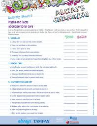 always changing grades phe true false questionnaire helps magnify non reproductive body changes and personal health and hygiene needs