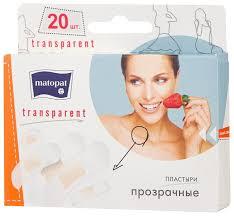 <b>Matopat Transparent пластырь</b> защитный, <b>20 шт</b>. — купить по ...