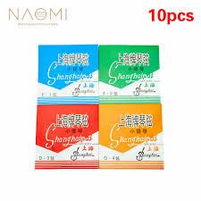 <b>NAOMI 10Pcs</b> Violin <b>String</b> Shanghai Stainless Steel E1 A2 D3 G4 ...