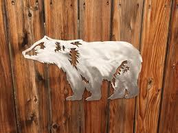 metal wall art bear moose