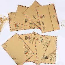 16 <b>pcs</b>/<b>lot Creative Retro</b> Airmail Large Envelopes Paper Kraft ...