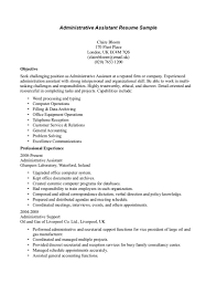 list of administrative duties for resume samples resume for job administrative assistant resume examples