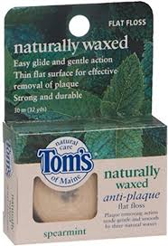 Tom's of Maine <b>Naturally Waxed Anti-Plaque Flat</b> Floss Spearmint ...