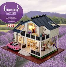 diy doll house provence miniature wooden building model dollhouse furniture model toys of houses for children build dollhouse furniture