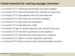 Useful materials for catering manager     SlideShare