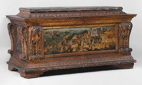 domestic art in renaissance italy  essay  heilbrunn timeline of  cassone with painted front panel depicting the conquest of trebizond