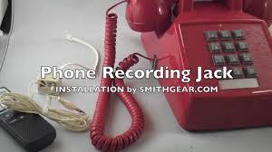 <b>Telephone Recording</b> Jack <b>Adapter</b> Attachment Installation to ...
