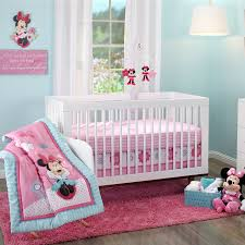 minnie mouse happy day 3 piece crib set baby mickey crib set design