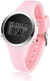 BROJET Digital LCD Wrist Watch for Kids Girls Boys,<b>Silicone Strap</b> ...