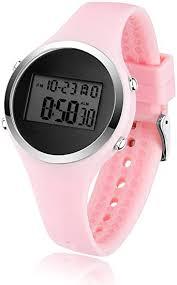 BROJET Digital LCD Wrist Watch for Kids Girls Boys,<b>Silicone Strap</b> ...