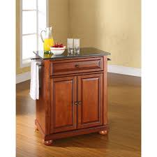 Crosley Kitchen Cart Granite Top Alexandria Black Granite Top Kitchen Cart Cherry Kf30024ach
