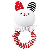 <b>Combi</b> - <b>Мягкая погремушка</b> с мордашкой зайчика «FuriFuri Rabbit»