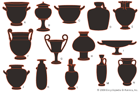 Art Examples of ancient Greek pottery forms   A  bell krater