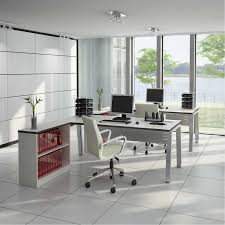 fabulous home office design interior with modern furniture using chic ideas decorated grey computer desk completed chic front desk office interior design ideas
