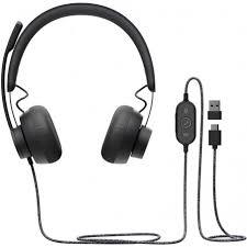 <b>Logitech Headset Zone Wired</b> (981-000875) Black 5099206090354
