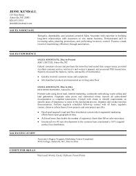 Example Resume  Sales Associate And Sales Experiece For Resume Objective Sales With Computer Skill And