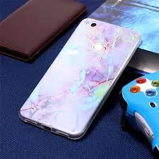 <b>Fashion Color Plated Marble</b> Soft TPU For Huawei P8 Lite 2017 ...